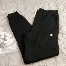 Champion Men's Logo Fleece Jogger Sweatpants Medium Black