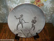 Royal Doulton England D6410 Photo Australian Aborigines with Hunting Weapons