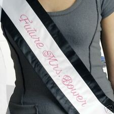 New Bachelorette Sash & Veil Future Mrs. Personalize with Name & Color For FREE