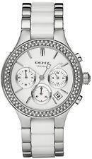 NEU DKNY NY8181 Damen Kammern Silber Keramik Uhr - 2 Jahr Garantie