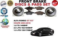 para ALFA ROMEO GT 937 Coupe 03-10 delantero Juego discos freno + pastillas de