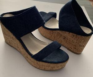 Witchery Denim Wedge Sandals