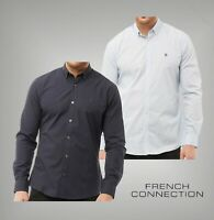 Mens French Connection Plain Logo Long Sleeve Shirt Sizes from S to XXL