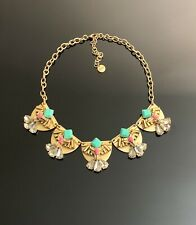 Stella & Dot gold tone statement necklace  NEW