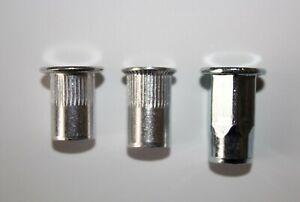 Blindnietmuttern Alu Edelstahl Stahl verzinkt A2 Nietmutter Sechskant M3 - M12