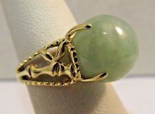 14k Solid Gold with Jade Set Lot -  2 Rings, Bracelet, AND Earrings #R217
