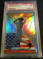 1997 KEN GRIFFEY JR. BOWMANS BEST INTERNATIONAL REFRACTOR HOF #BBI2 PSA 9 POP 9