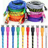 1/2/3M Braided Fabric Micro USB Data&Sync Charger Cable Cord For Android Phone I