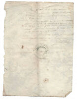 1845 manuscript council mayor autograph and stamp manuscript document DAMAGED