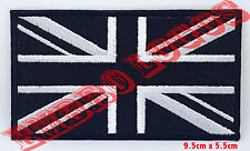 Union Jack Black Flag Embroidery sew on iron on Patch/badge Sew/Iron