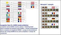 5 LOOK Set 23 Länderschildchen EURO Flaggen Für 1-7395-4 Premium Münzhüllen