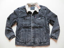 Levi's ® Jacke Jeansjacke Gr. XL, NEU ! schwarz, warm mit Teddy Fell gefüttert !