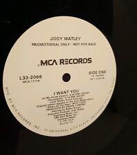 """Jodi Watley - I Want You 12"""" Promo 33 1/3 RPM Vinyl Record L33-2066 MCA Records"""