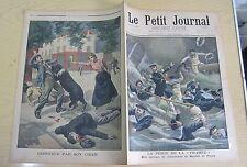 Le petit journal 1900 511 Mort Mauduit du plessix + défendue par son chien