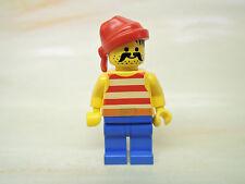 LEGO Figur Pirat rot weiß gestreiftes Hemd rotes Bandana pi043  6276 6851