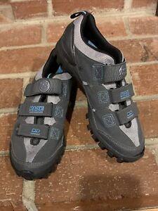 Bontrager Woman Inform Race Mountain Gray Cycling Shoes Sz 8 Two Bolt