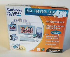 AVer Media DVD EZMaker 1394 PCI Card w/Software New/Sealed