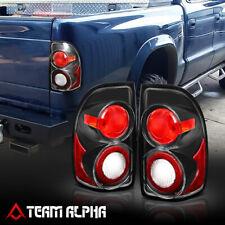 Fits 1997-2004 Dodge Dakota<EURO ALTEZZA>Black/Clear Brake Lamp Rear Tail Light
