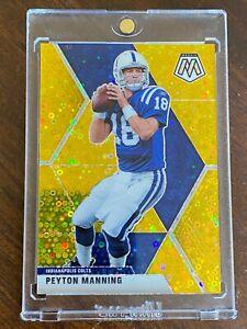 2020 Mosaic Peyton Manning Gold Prizm 5/10