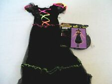 NEW Girls Rainbow Witch Costume  Large Pretty Colors
