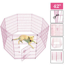24' 30' 36' 42' Dog Exercise Playpen Metal Pet Crate Fence Cage Collapsible