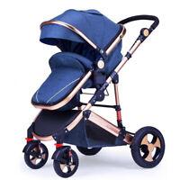 YulDek Modern High View Baby Pram Stroller, Strong Wheels with Safe Carrying Pos