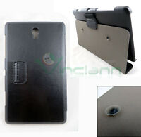 Custodia BOOKLET stand ventosa eco pelle NERA per Samsung Galaxy Tab S 8.4 T705