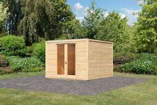 28mm Gartenhaus Cubus Front naturbelassen
