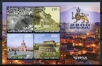 Armenia 2018 MNH Statehood Foundation of Yerevan 4v M/S Architecture Stamps