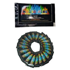 12X Magic Neon Flames Colour Changing Mystical Fire Bonfire Sachets UK