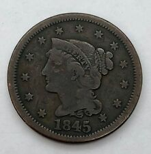1845 LARGE CENT COIN USA 1 CENT