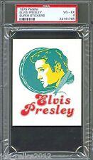 1979 Panini Super Stickers ELVIS PRESLEY King of Rock N Roll PSA 4 Pop 1