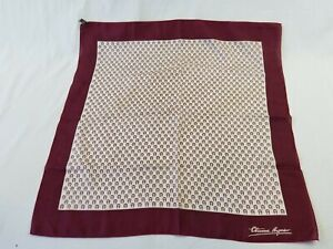 ETIENNE AIGNER STRIPED BEIGE LARGE Silk Scarf logo pattern nice square