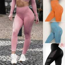 Womens Vital Seamless Yoga Leggings Gym Sport Pants Running Fitness Sportswear S