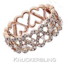 Band Natural Not Enhanced Rose Gold Fine Diamond Rings