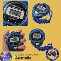 LCD KADIO Digital Stopwatch Timer Stop Watch Clock Alarm + BATTERY & Strap