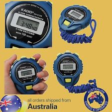 Genuine KADIO Digital Handheld Sports Stopwatch Stop Watch Timer Clock Alarm
