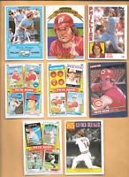 1981 Topps  Drakes #3 Pete Rose & 7 Pete Rose Phillies & Reds Baseball Cards