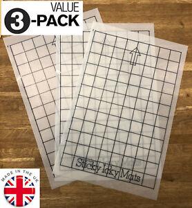 """3 pack (8 x 12"""") Grid Mat pack Silhouette Portrait cutting A4 Carrier Mats"""