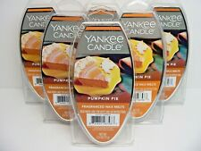 Yankee Candle Pumpkin Pie Fragrance Wax Melts 2.6 Oz - Lot of 6 Packages - New