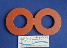 "Fiber Washer For Biro #32 Grinder 1 1/4 I.D. 2 1/2 O.D. 1/8"" Thick Sold in Pairs"