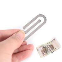 Metal Money Clips Paper Clip Holder Folder Credit Card Portfolio Money Holder 3C