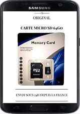 Carte Micro SD 64Go Classe 10 avec Adaptateur