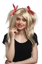 Perruque Cosplay Wild lisse nattes Volume Hell-Blond Rouge Boucles Gothique Lolita