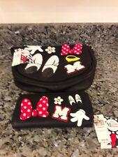 Minnie Mouse crossbody purse and matching billfold wallet man made material NWT.