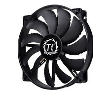 ThermalTake 20cm 200mm Pure Black Case Fan - 129.639 CFM - CL-F015-PL20BL-A
