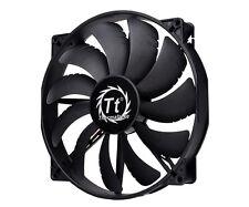 ThermalTake 20cm 200mm Pure Black Case Fan - 129.639 CFM - CL-F015-PL20BL-A
