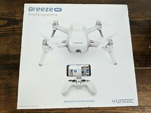 Yuneec Breeze 4K Camera Drone - White Free Ship upgraded battery barely used