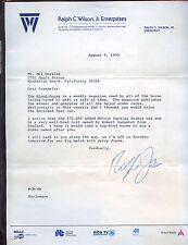 1995 Ralph Wilson Jr. Signed Buffalo Bills Letter With Original Mailing Envelope