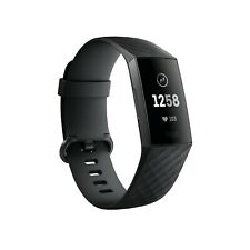 Fitbit Charge 3 Fitness Activity Tracker - Graphite/Black - Gently Used